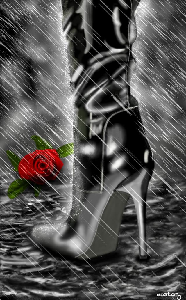 #dcshoes #dcrainydays #wdpRainyDay 🔸4th place🔸thank you ❤ #drawing #digitaldrawing #rain #rainyday #blackandwhite