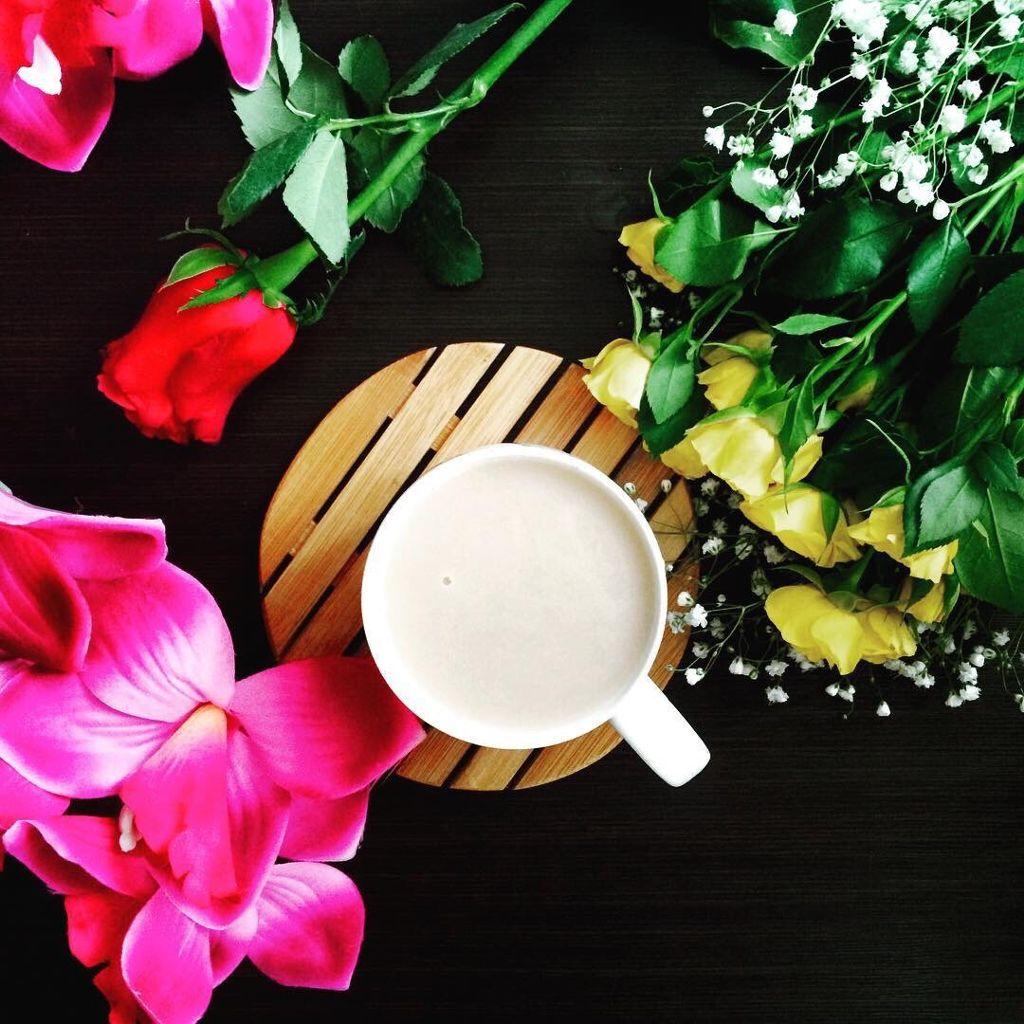 Good Morning Interesting Morning Flowers Tea Milk