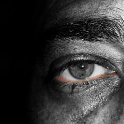 blackandwhite eye freetoedit colorsplash colorful