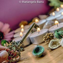 love cute key candels shells