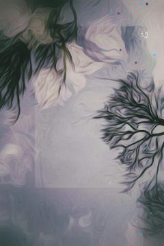 nature flower oilpaintingeffect sky tree