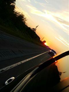 sunset oilpainting
