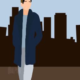 guy boy city vector freetoedit