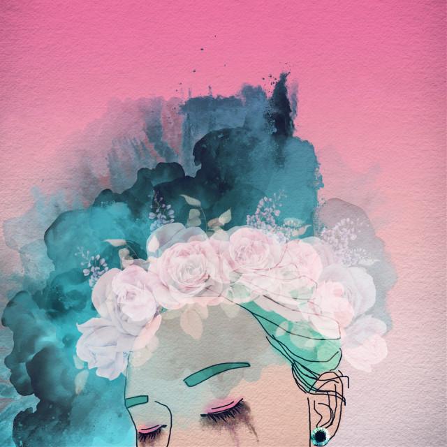#girl #rose #flowers #pink #FreeToEdit