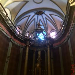 church ceiling light catalonia spain