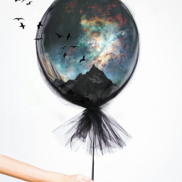 freetoedit dream fly birds baloon