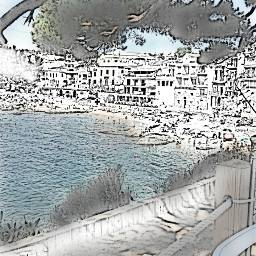scketching palafurgell costabrava spain